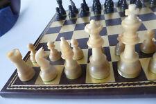 Großes*Vintage*Horn Schachspiel*K=10,3 cm*Chess*Echecs*Ajedrez*Kein Brett