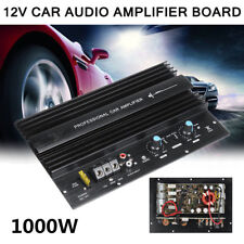 Portable Black 12V 1000W Powerful Bass Subwoofer 105dBA Car Audio Amplifier Amp
