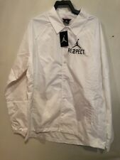 RESPECT Coach's Jacket Sz Large White/Black AA1867 100