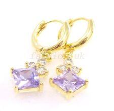 Cubic Zirconia Drop/Dangle Yellow Gold Fashion Earrings