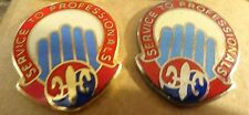 MILITARY INSIGNIA CREST DUI SET OF 2 501ST SUPPORT BN SERVICE TO PROFESSIONALS