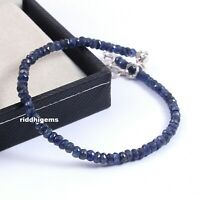 Details about  /Ethiopian Opal Blue Sapphire Beads Bracelet With 925 Sterling Silver Lock b-154