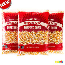 3-Pack Trader Joe's Organic Popping Corn 28 oz / 1 lb 12 oz Popcorn Kernels NEW