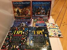 I-Spy and Can you See what I See? Lot  7 Hardcover Books Wick Marzollo Excellent