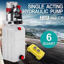 6 QUART SINGLE ACTING HYDRAULIC PUMP DUMP TRAILER LIFTING POWER UNIT RESERVOIR