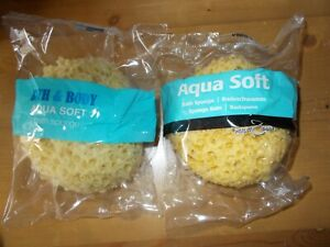 2 X MULTY AQUA SOFT BATH / SHOWER BUBBLES SOFT SPONGE - FREE POSTAGE