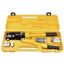 16 /Ton Hydraulic Wire Crimper Crimping Tool 11 Dies Battery Cable Lug Terminal