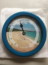8.5 Inch Atlantic Tide Wall Clock Colorful Graphics Dial Plastic Water Resistant