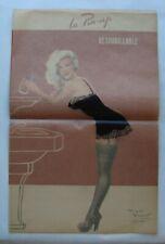 LA PIN-UP DESHABILLABLE PAGE EXTRAITE DE LA REVUE PARIS HOLLYWOOD.