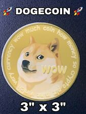 Dogecoin Sticker Doge Coin to the moon stonk vinyl decal laptop PC