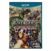 Marvel Avengers: Battle for Earth (Nintendo Wii U, 2012) Complete w/Manual CIB
