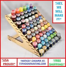 78 BOTTLE CITADEL PAINT RACK, USA HOBBY MINIATURE TYPHOON WOODEN STORAGE