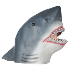 Deluxe Shark Mask Full Latex Gray Grey Head Mascot Style Halloween Costume Adult