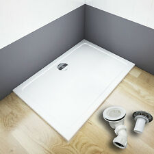 New Aica slimline shower enclosure stone tray free waste rectangle square