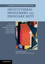 Cambridge Handbook of Institutional Investment and Fiduciary Duty (2014,...