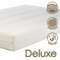 Deluxe 2000 Memory foam Mattress All Sizes Including Euro/IKEA