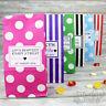 Personalised Pick N Mix Sweet Bag Wedding Favour Gift | Candy Stripe | Polka Dot