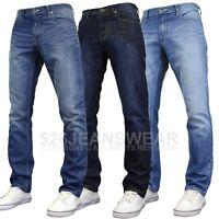 "Enzo Men's Classic Straight Leg Regular Fit Jeans, 28""-48"" Waist, BNWT"