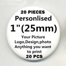 "20 Custom Personalised COMIC MOVIE Pin Back Pin Button Badge pinback 1"" 25mm T09"