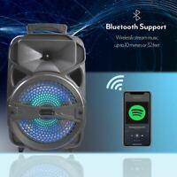 "8"" 1000W Wireless Portable Bluetooth BT Speaker Heavy Bass Sound W/ Remote Party"