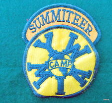 VINTAGE GIRL SCOUT CAMP PATCH - SUMMITEER SEGMENT ATTACHED