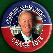 "2016 Lincoln Chafee 2-1/4"" / (D)Presidential Hopeful Campaign Button (Pin 02)"