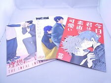 Lot of 3 Book Blood Blockade Battlefront YAOI Doujinshi Steven x Leonardo Japan