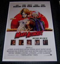 Mars Attacks! 11X17 Movie Poster Tim Burton