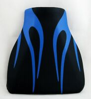 Front Rider Seat Leather Cover For Honda CBR600RR CBR 600 RR 07-12 Flame Blue/A5
