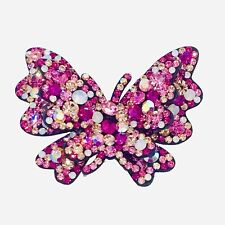 RETAIL $300 60 MIA BUTTERFLIES HAIR CLIP PINK ROSA PINK GLITTER NEW WHOLESALE!!