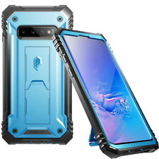 For Samsung Galaxy S10 (2019) Case Poetic Full Cover with Screen Protector Blue