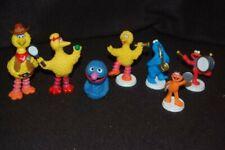 Vintage Sesame Street PVC figures big bird elmo cookie zoe & grover puppet lot