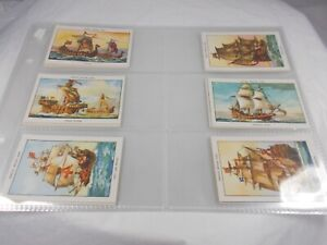 A Series of 25 FAMOUS BRITISH SHIPS Series No. 1 Mills Cork Tips Tobacco Trade