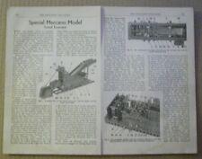 Meccano models - Tunnel excavator plans - 1952 - 20 x 28 cm WALL ART