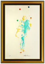 LeRoy Neiman Pierrot The Juggler Large Color Serigraph Hand Signed Modern Art