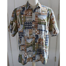 Cooke Street Honolulu 100% Cotton Camp Aloha Hawaiian Shirt Sz L Large Golf