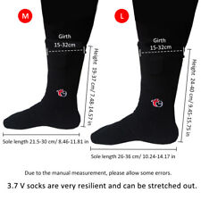 Battery Operated Electric Heated Thermal Sock Chronically Cold Feet -L Navy BU