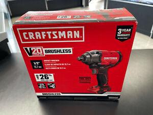 "Craftsman V20 1/2"" Impact Wrench CMCF920B Brand New"