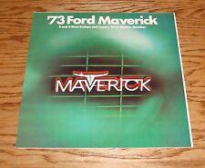 Original 1973 Ford Maverick Sales Brochure 73 Sedan Grabber