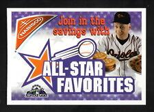 Cal Ripken--1998 Nabisco Cookies Card--Baltimore Orioles--All Star Game Logo