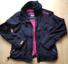 Superdry The Windcheater Coat Jacket Black Ladies Size L