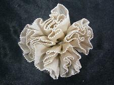 KLEINFELD WEDDING BEIGE BROWN FLOWER SILK LACE DECORATION GOWN OR HAIR ACCESSORY