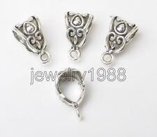 60pcs Tibetan Silver Connectors Bail Beads For Pendant Fit Charm Necklace F3360