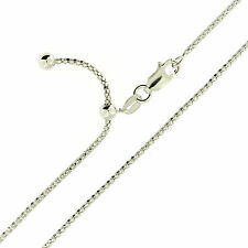 925 Sterling Silver Rhodium Finish Diamond Cut Popcorn Adjustable Slider Chain