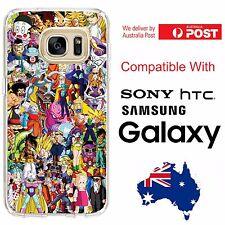 Samsung Galaxy HTC Silicone Jelly Cover Case Dragon Ball Z DBZ Goku Gohan Vegeta