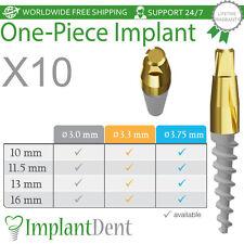10 Dental One Piece Implant Narrow Spiral Implants Internal Hex Sterilized