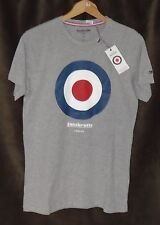 LAMBRETTA TARGET T-SHIRT MENS SMALL GREY LONDON NEW WITH TAGS MADE IN UK
