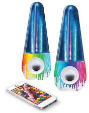 Crayola Bluetooth Dancing Aqua Color Mini Portable Stereo Speaker
