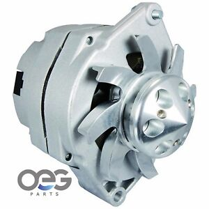 New Alternator 100 Amp Self Exciting 1 Wire Billet Style Low Cut In Hot Rod