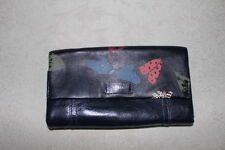 Fossil  leather  womens wallet --   black